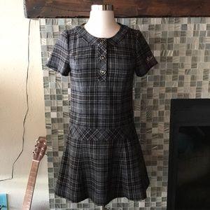 Mary Quant schoolgirl plaid mini dress XS S